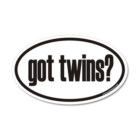 got twins? Euro 35x21 Oval Wall Peel