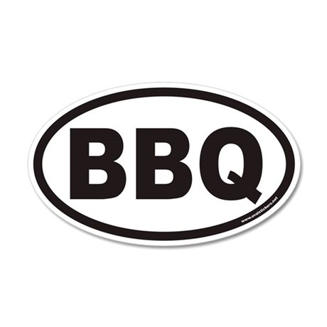 BBQ Euro 20x12 Oval Wall Peel