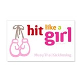 Hit Like a Girl 20x12 Wall Peel