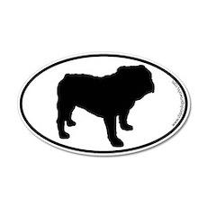 Bulldog SILHOUETTE 20x12 Oval Wall Peel