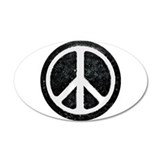 Original Vintage Peace Sign 35x21 Oval Wall Peel