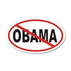 Anti Obama Euro 35x21 Oval Wall Peel