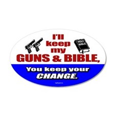 I'll Keep My Guns and Bible 35x21 Oval Wall Peel