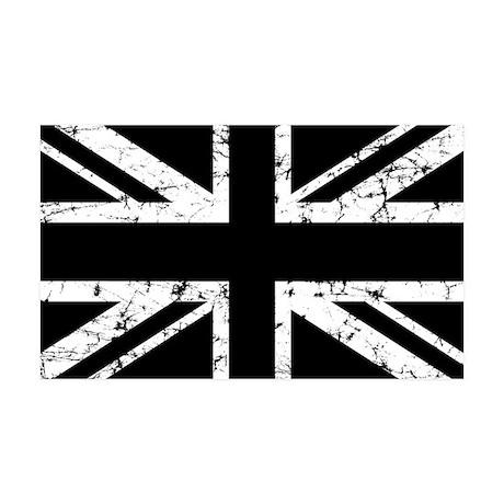 """""""Black Union Jack"""" 35x21 Wall Peel"""