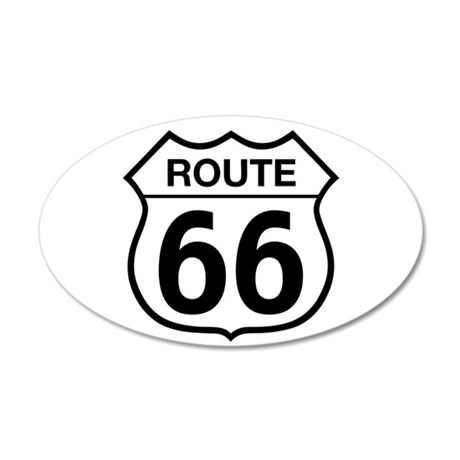 Route 66 20x12 Oval Wall Peel