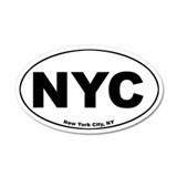 New York City (NYC) 35x21 Oval Wall Peel