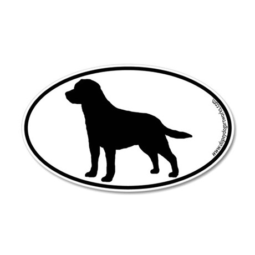 Labrador SILHOUETTE 20x12 Oval Wall Peel