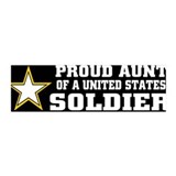Proud Aunt Soldier/BLK 36x11 Wall Peel