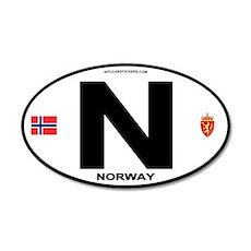 Norway Euro-style Code 20x12 Oval Wall Peel
