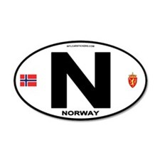 Norway Euro-style Code 35x21 Oval Wall Peel