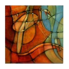 'Passage-M' Abstract Art Ceramic Tile Coaster