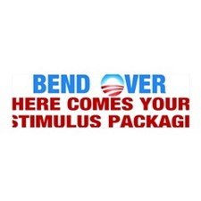Bend Over for Stimulus Package - 36x11 Wall Peel