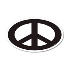 Peace Sign Euro 20x12 Oval Wall Peel