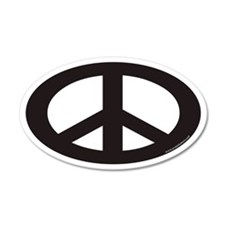 Peace Sign Euro 35x21 Oval Wall Peel