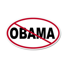 No Obama 35x21 Oval Wall Peel