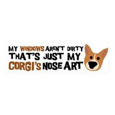 Corgi Nose Art 20x6 Wall Peel