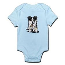 Tri-Color Border Collie Infant Bodysuit