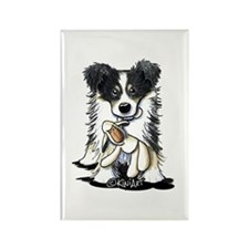 Tri-Color Border Collie Rectangle Magnet (10 pack)