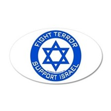 I Support Israel 20x12 Oval Wall Peel