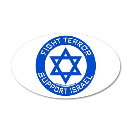 I Support Israel 35x21 Oval Wall Peel