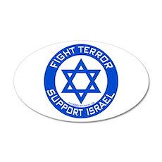 I Support Israel 35x21 Oval Wall Peel