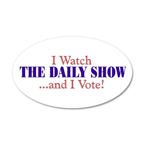 """I Watch The Daily Show..."" oval Sticker"