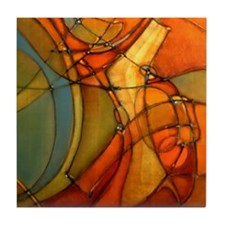 'Passage-R' Abstract Art Ceramic Tile Coaster