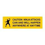 Caution: NINJA ATTACKS... 20x6 Wall Peel