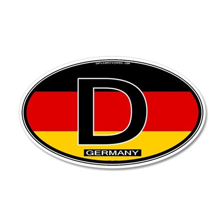 Germany Colors Oval 35x21 Oval Wall Peel