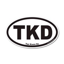 Tae Kwon Do TKD Euro 20x12 Oval Wall Peel