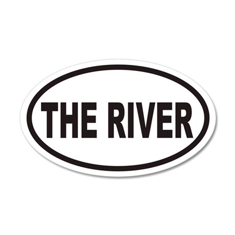 THE RIVER Euro 35x21 Oval Wall Peel
