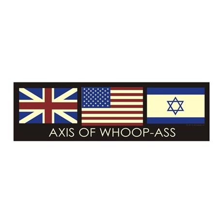 Axis of Whoop-Ass (10x3 Sticker)
