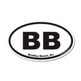 Bradley Beach BB Euro 20x12 Oval Wall Peel