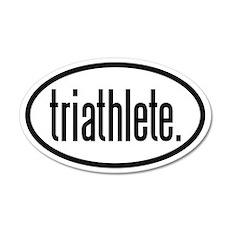 triathlete 35x21 Oval Wall Peel