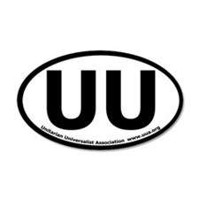 UU Bumper 35x21 Oval Wall Peel with UUA text