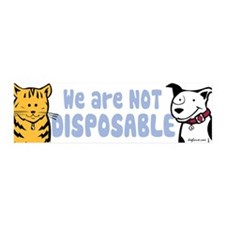 We Are Not Disposable 36x11 Wall Peel