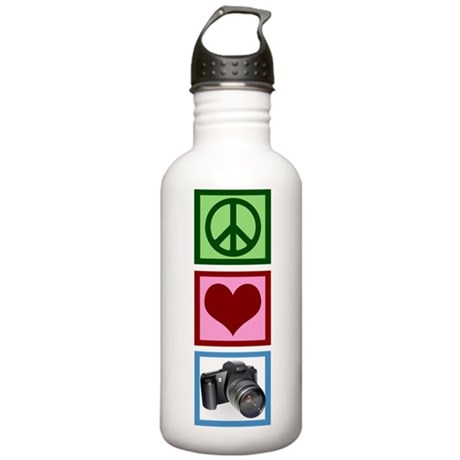 Peace Love Photography Stainless Water Bottle 1.0L