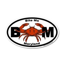 Bite Me Maryland Steamed Crab Euro Wall Decal