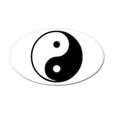 Yin Yang Symbol 35x21 Oval Wall Peel