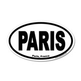 Paris France Euro 35x21 Oval Wall Peel