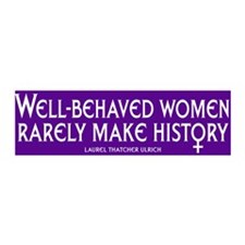 WELL-BEHAVED WOMEN 36x11 Wall Peel