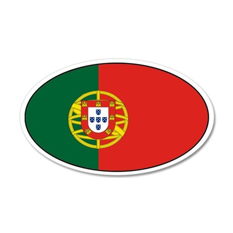Portuguese Stickers 20x12 Oval Wall Peel
