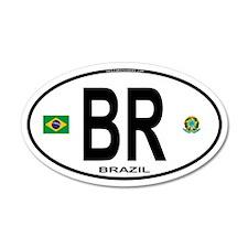 Brazil Intl Oval 35x21 Oval Wall Peel