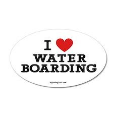 I Love Water Boarding 20x12 Oval Wall Peel