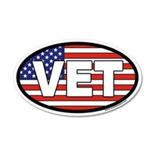 Veteran VET 35x21 Oval Wall Peel with American Fla