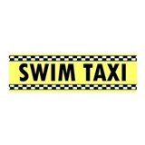 Swim Taxi 20x6 Wall Peel