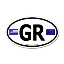 Greek Euro 35x21 Oval Wall Peel