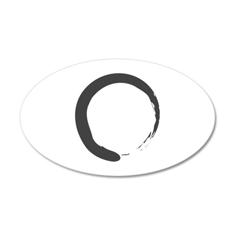 Enso - Zen Circle 35x21 Oval Wall Peel