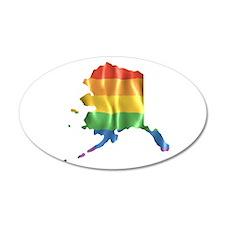 Gay State Pride Rainbow, Alaska AK Wall Decal