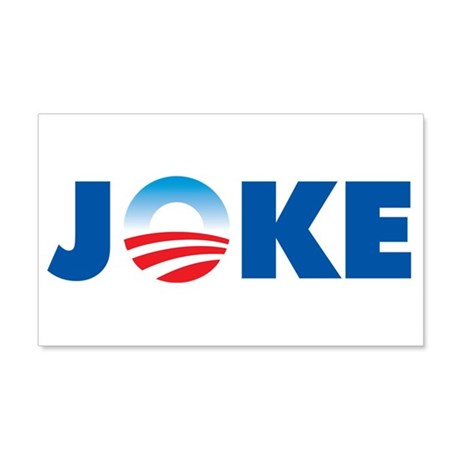 Obama Joke 20x12 Wall Peel